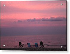 Pink And Deserted Acrylic Print by Karol Livote