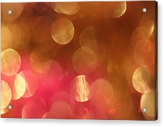 Pink And Gold Shimmer- Abstract Photography Acrylic Print by Linda Woods