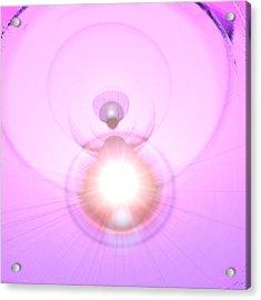 Pink Angel-light Acrylic Print by Ramon Labusch