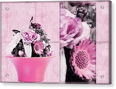 Pink Acrylic Print by Angela Doelling AD DESIGN Photo and PhotoArt