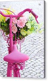 Pink Bike Acrylic Print by Carlos Caetano