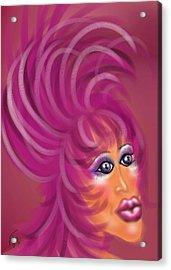Pink Flamingo Acrylic Print by Ronald Terrel