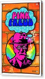 Pink Freud Acrylic Print by John Goldacker