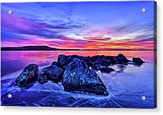 Pink Ice At Dawn Acrylic Print by ABeautifulSky Photography