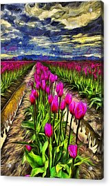 Pink Impression 2 Acrylic Print by Mark Kiver