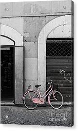 Pink Italian Bike Acrylic Print by Edward Fielding