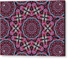 Pink Mandala Acrylic Print by Natalie Holland