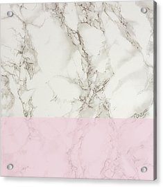 Pink Marble Acrylic Print by Suzanne Carter