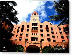 Pink Palace Of The Pacific Acrylic Print by Cheryl Young