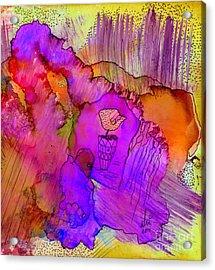 Pink Petals I Acrylic Print by Angela L Walker