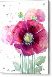 Pink Poppies Acrylic Print by Arline Wagner