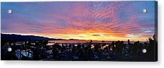 Pink Skies From Sbcc Acrylic Print by John Pierpont