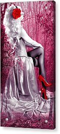 Pink Acrylic Print by Svetlana Sewell