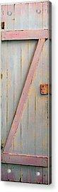 Pink Z Door Acrylic Print by Asha Carolyn Young