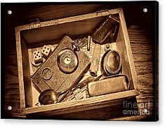 Pioneer Keepsake Box Acrylic Print by American West Legend By Olivier Le Queinec