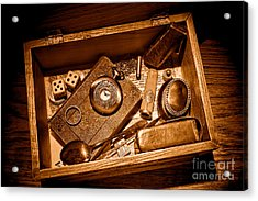 Pioneer Keepsake Box - Sepia Acrylic Print by Olivier Le Queinec