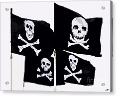 Pirate Flags Acrylic Print by David Lee Thompson
