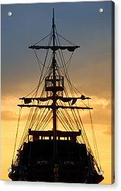 Pirate Ship Acrylic Print by Stelios Kleanthous