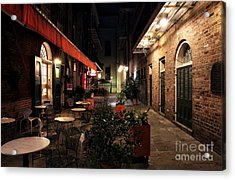 Pirates Alley At Night Acrylic Print by John Rizzuto