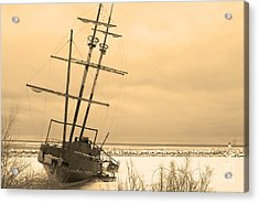 Pirates In The Harbour Acrylic Print by DebraLee Wiseberg