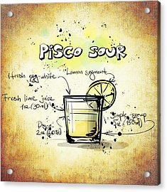 Pisco Sour Acrylic Print by Movie Poster Prints