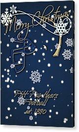 Pitt Panthers Christmas Cards Acrylic Print by Joe Hamilton