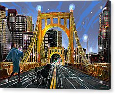 Pittsburgh Chic Acrylic Print by Frank Harris