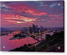 Pittsburgh Dawn Acrylic Print by Jennifer Grover