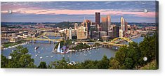 Pittsburgh Pano 23 Acrylic Print by Emmanuel Panagiotakis