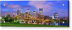 Pittsburgh Pano 9 Acrylic Print by Emmanuel Panagiotakis