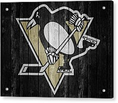 Pittsburgh Penguins Barn Door Acrylic Print by Dan Sproul