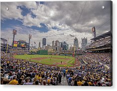 Pittsburgh Pirates Pnc Park X3 Acrylic Print by David Haskett