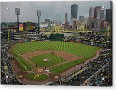 Pittsburgh Pirates Pnc Park X5 Acrylic Print by David Haskett