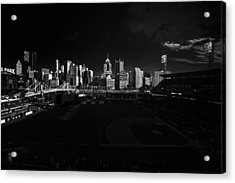 Pittsburgh Skyline Pnc Park Pirates Acrylic Print by David Haskett
