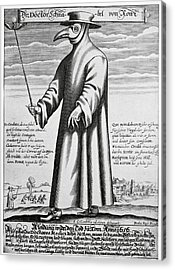 Plague Doctor, 17th Century Artwork Acrylic Print by