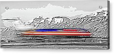 Plane At Airport 1 Acrylic Print by Steve Ohlsen
