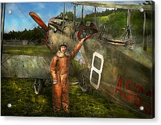 Plane - First One-stop Flight Across The Us - 1921 Acrylic Print by Mike Savad