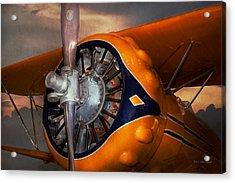 Plane - Prop - The Gulfhawk Acrylic Print by Mike Savad