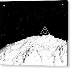 Planetary Mountain Acrylic Print by GuoJun Pan