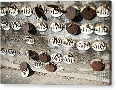 Plates With Numbers II Acrylic Print by Carlos Caetano