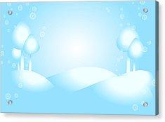 Playful Winter Scene Acrylic Print by Serena King