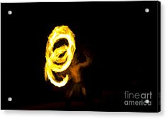 Playing With Fire Acrylic Print by Darcy Michaelchuk