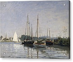 Pleasure Boats Argenteuil Acrylic Print by Claude Monet