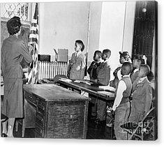 Pledge Of Allegiance, 1958 Acrylic Print by Granger