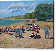 Plein Air Bathers Acrylic Print by Phil Chadwick