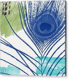 Plumage 3- Art By Linda Woods Acrylic Print by Linda Woods