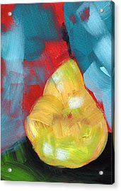 Plump Pear- Art By Linda Woods Acrylic Print by Linda Woods