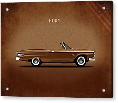 Plymouth Fury 61 Acrylic Print by Mark Rogan