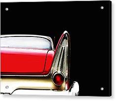 Plymouth Fury Fin Detail Acrylic Print by Mark Rogan