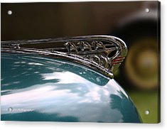 Art Deco Plymouth Hood Ornament Acrylic Print by Yvonne Wright